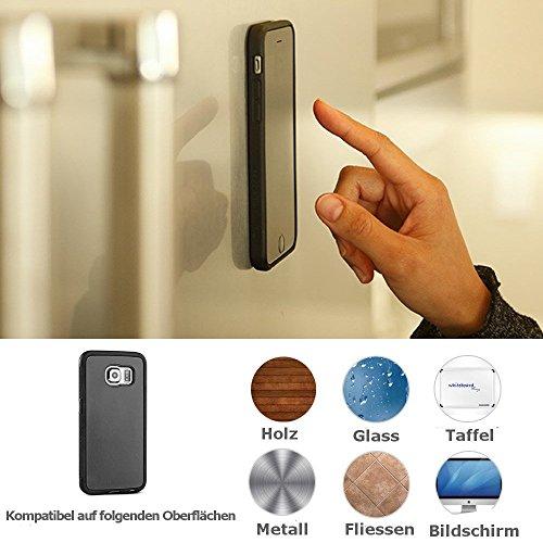 Anti Gravity Case Ersatzteiltresen Étui rigide Coque rigide pour Samsung Galaxy S8Etui et Samsung Galaxy S8Plus Magic magique Nick responsabilité Anti thermosiphon adsor Bières Nano Coque Collants, Selfie Stick