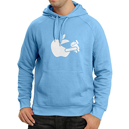 n4212h-hoodie-funny-apple-eating-a-robot-gift-t-shirt-small-blue-white