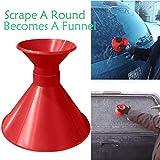 TPulling Eiskratzer Auto Rund Windschild Eiskratzer EIN Rundes Cone Shaped Scraper Schaufel Schneeräumung FensterreinigungswerkzeugEisschaber (Rot1)