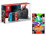 Nintendo Switch Consola 32Gb Azul/Rojo Neón + 1-2 Switch