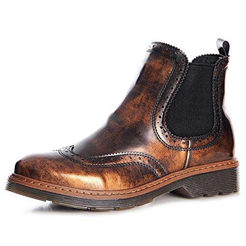 topschuhe24 990 Damen Stiefeletten Chelsea Boots Booties Bronze