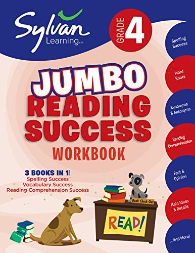 4th Grade Jumbo Reading Success Workbook: Activities, Exercises, and Tips to Help Catch Up, Keep Up, and Get Ahead (Sylvan Language Arts Jumbo Workbooks)
