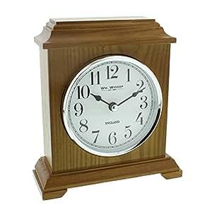 Napoleon Horloge de cheminée en bois finition chêne Style de transport