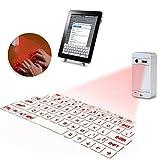 Gosear Ultra Portatile proiezione virtuale Senza Fili Bluetooth USB HID Laser Tastiera Bianca