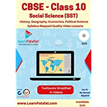 LearnFatafat CBSE Class 10 SST Full Video Course - History, Geography, Economics, Political Science (DVD)