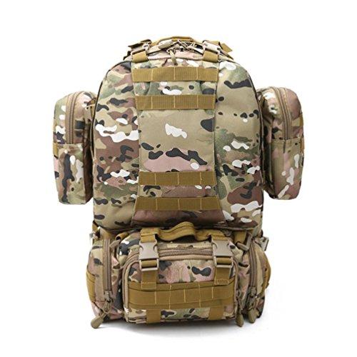 70LOutdoor Bergsteigen Rucksack mit Molle Tasche / Militär Tasche / Militär Rucksack / Rucksack Uniform / Camping taktischen Rucksack (Tarnung / schwarz / ACU / khaki) D