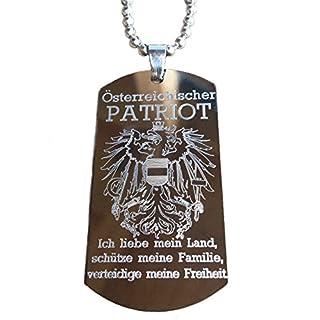 Real Bullet Design Dog-Tag ÖSTERREICHISCHER Patriot Österreich Adler - Ich Liebe Mein Land, schütze Meine Familie, verteidige Meine Freiheit.