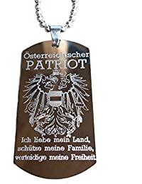 Real Bullet Dog Tag Austrian Patriot Austria Eagle – I Love My Country, My Family, Defend My Freedom.