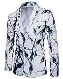 Shaoyao Herren Anzug Hübsche Blazer Jacken Nachtclub Hochzeit Partei Smoking Weiß XXL