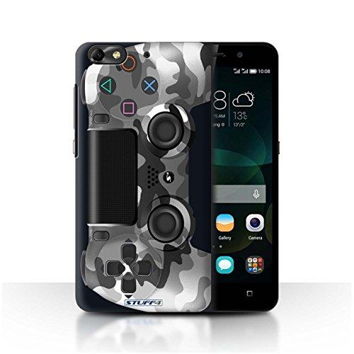 Stuff4 Hülle / Case für Huawei G Play Mini / Weiß Tarnung Muster / Playstation PS4 Kollektion
