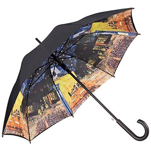 MySchirm Designer Regenschirm Vincent van Gogh: 'Nachtcafé' - Eleganter Stockschirm - Luxus Design - Automatikschirm