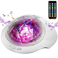 SOAIY Night Light Projector, Mood Lights & Soothing Sleep Sound Machine with Remote, Bluetooth Speaker, Timer for Adults, Kids