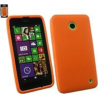 Emartbuy® Nokia Lumia 630/Lumia 635 Silikon Hülle Schutzhülle Case Cover Orange
