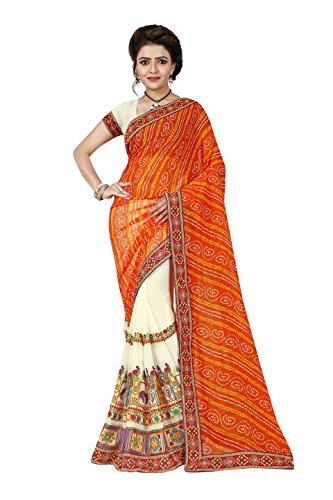 High Glitz Fashion Women's Mysore Georgette Saree With Blouse Piece ( Multi Coloured Sarees )