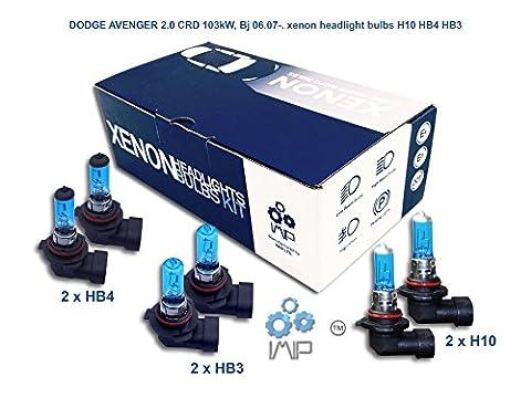 Dodge Avenger 2.0CRD 103KW, Bj 06.07-. Ampoules Xénon de phare pour H10HB4HB3