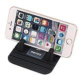 Remax Support Téléphone Voiture en Silicone Antidérapant, Tapis Auto à Pose Smartphone Universel/GPS/GSM/iPad mini sur Bureau ou Tableau de Bord iPhone 7/6s/6/Plus, Samsung Galaxy S8 S7 (Noir))