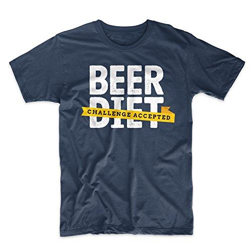 Beer Diet Challenge Accepted Komisch Sarcastic Food Fitness Weight Loss Herren T-Shirt Blau