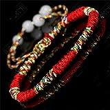 Handmade Corlorful Lucky Weaved Bracelet Buddhist Knots Rope Bracelet Tibetan Infinity Charm Jewelry For Women Girls(3PCS)