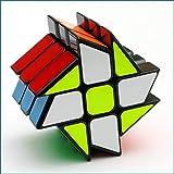 VIWIV Cubo Rubik De Tercera Orden De La Rueda De Descompresión Creativa Regalo Negro Blanco Geométrico Adulto Niño Estudiante Rompecabezas Cubo Juguete Velocidad Puzzle,Black