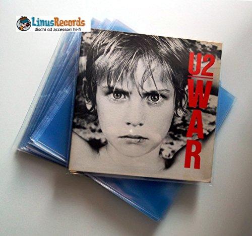 100 BUSTE IN POLIPROPILENE SUPER TRASPARENTI LUCIDE PER DISCHI LP (GRANDE SPESSORE 130 MY)
