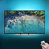 Tiras LED Iluminación (118in/3m en 6 bandas), Tira de LED para HDTV de 40-60 pulgadas con control remoto de 17 teclas - Retroiluminación de TV Reduce el cansancio visual