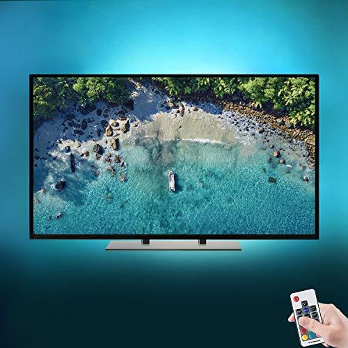 GPODER LED TV Hintergrundbeleuchtung 6×1.64Füße USB Lichtleisten Fernseher Beleuchtung für 40-60 Zoll HDTV Bias-Beleuchtung Perfekt für TV-Bildschirm und PC- Monitor Fuse Tv