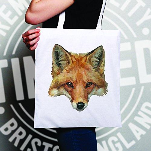 Cool Poly Fox Graphic Illustration Design Animal Animal Cooler White