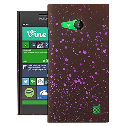 Heartly Night Sky Glitter Star 3D Printed Design Retro Color Armor Hard Bumper Back Case Cover For Nokia Lumia 730 735 - Maroon Purple  available at amazon for Rs.199