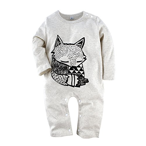 BIG ELEPHANT Baby Jungen \'1 Stück Fox Langarm Spielanzug Kleidung H12