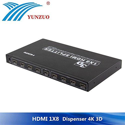 Distributore video, 1x8 HDMI Splitter 8 Port Splitter usato  Spedito ovunque in Italia