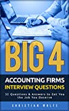#5: Big 4 Accounting Firms Interview Questions: 32 Questions & Answers to Get You the Job You Deserve