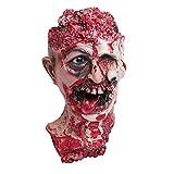 semen Halloween Horror Dekoration Erwachsene Blutige Kopf Abgehackter Blutiger Kopf lebensgroß Halloween Deko Halloween Karneval