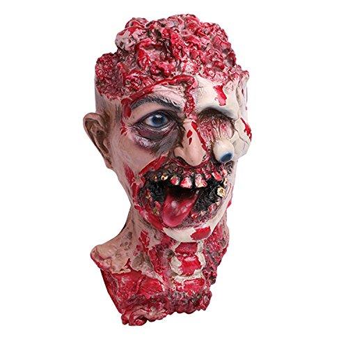 or Dekoration Erwachsene Blutige Kopf Abgehackter Blutiger Kopf lebensgroß Halloween Deko Halloween Karneval ()