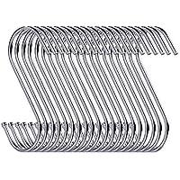 30unidades de ganchos en forma de S de 9 cm a modo de colgadores para cocina, cuarto de baño, dormitorio y oficina
