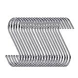 30 packs de crochets de suspension en forme de S des cintres 8,9 cm pour cuisine, la salle de bain, la chambre et le bureau