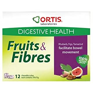Ortis Ortisan Natural Laxative Fruit and Fibre Cubes - NEW FLAVOUR - RHUBARB/TAMARIND/FIG (12)