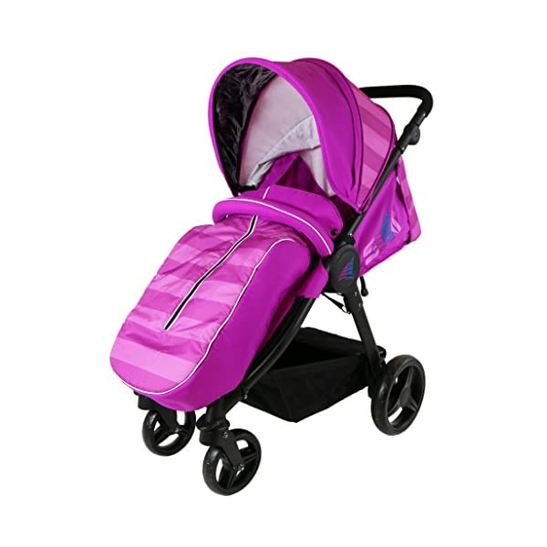 Sail Stroller - Plum Includes Bumper Bar Rain Cover Bootcover Sail Seamless Ride, High Built Quality, Amazing Features Media Viewing Tablet Pocket + One Hand Fold Away Extendable Hood, Provides Additional Shade And Privacy 2