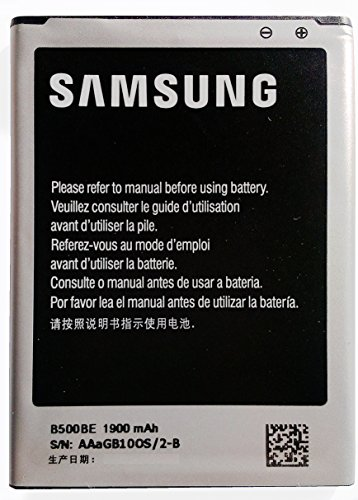 Samsung EB-B500 Standard-Akku (1,900 mAh, geeignet für Samsung Galaxy S4 mini) silber/schwarz