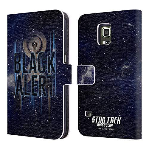 fizielle Star Trek Discovery Black Alert U.S.S Discovery NCC - 1031 Brieftasche Handyhülle aus Leder für Samsung Galaxy S5 Active ()