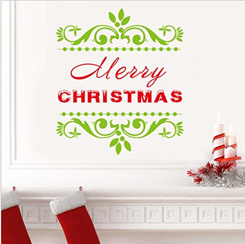 Preisvergleich Produktbild GJX@ Wand-Sticker Weihnachten Home Decor abnehmbare Wand Aufkleber Kunst Dekorationen Schriftsatz , 42*47cm