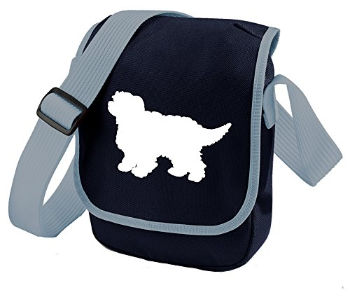 Bag Pixie - Borsa a tracolla unisex adulti White Dog Blue Bag