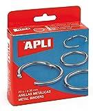 APLI 454 - Caja con 20 anillas metálicas (38 mm)
