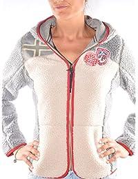 NAPAPIJRI Mujer con capucha Fleece N0YGVBM92 Yupik WOM 1-GRIS BEIGE