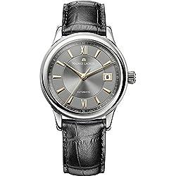 Maurice Lacroix LC6027-SS001-310 - Reloj para hombres, correa de cuero color negro