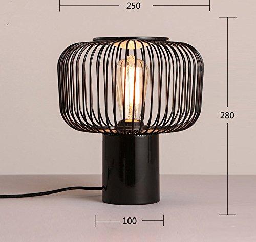 Modern einfach zu Hause kreativ schwarz Fashion Lampe Zimmer warmes Bett Lampe Licht, ein -