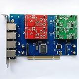 TDM410P-Tarjeta Asterisk con 2 puertos FXO y 2 puertos FXS, Conector PCI. Elastix,Freepbx VOIP