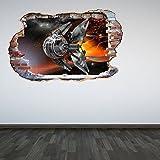 60 Second Makeover Limited Couleur Complète Drone mur brisé 3D Effet Espace Extra-atmosphérique Galaxy Chambre Autocollant Mural Décoration Chambre D'enfant décoration - Large