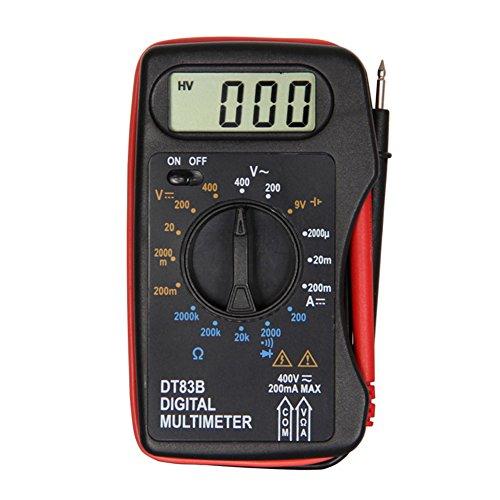 Multímetro digital de mano, 12 V, 23 A, medidor de voltaje AC/DC, multímetro de bolsillo, moderno, medidor de hortímetro, abrazadera
