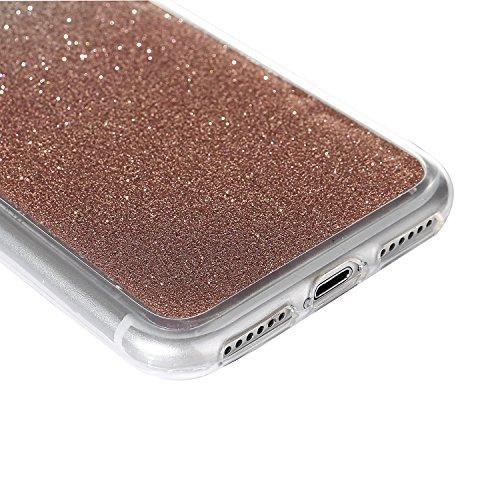 """iPhone 7Plus Handyhülle, Bling Glitzer Funkeln CLTPY iPhone 7Plus Durchsichtig Dünne Matte Gel Cover Schlanke Hybrid Stoßdämpfende & Kratzfeste Gummi Case mit Kippständer für 5.5"""" Apple iPhone 7Plus ( Rose Gold"""