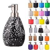 Sanilo Seifenspender | viele schöne Seifenspender zur Auswahl | Elegantes, Stylisches Design | Blickfang für jedes Badezimmer (Black Glitzer)